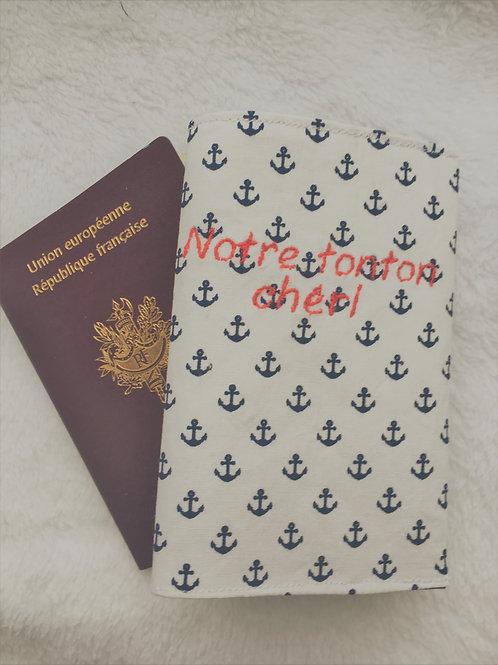 Protège passeport ancre
