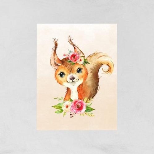 Couverture écureuil