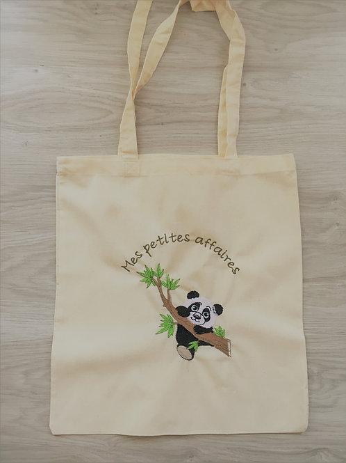 "Tote bag ""affaires de panda"""