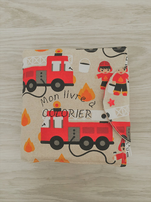 Coloriage écologique pompier