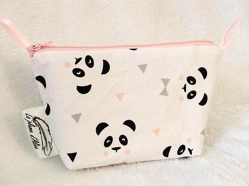Petite trousse panda rose
