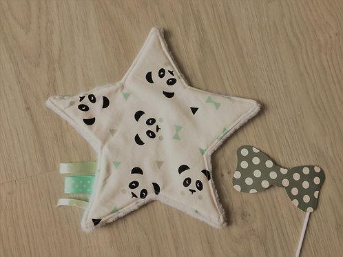 Doudou étoile panda