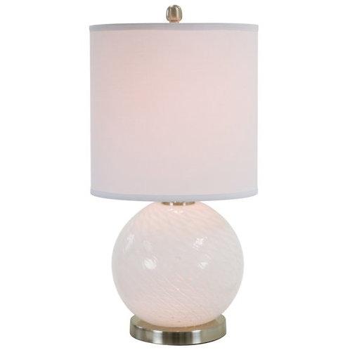 Sleek Glass Base Table Lamp