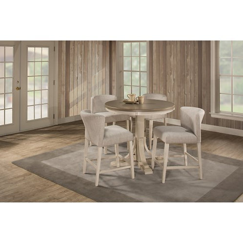Hillsdale - Clarion 5 Piece Round Counter Dining Set with Wing Arm Stools