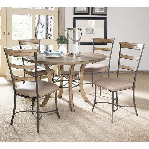 Hillsdale - Charleston 5 Piece Round Desert Tan Wood Dining Set