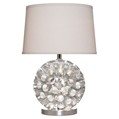 Tubular Metal Base Table Lamp