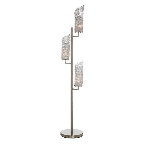 Silver Aluminum Floor Lamp