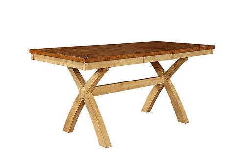 Tennessee Enterprises - Quinton X-Leg Gathering Table w/ Butterfly Leaf