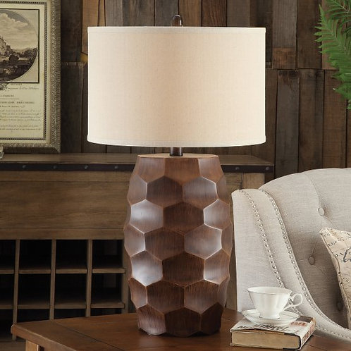 Textured Polyresin Base Table Lamp