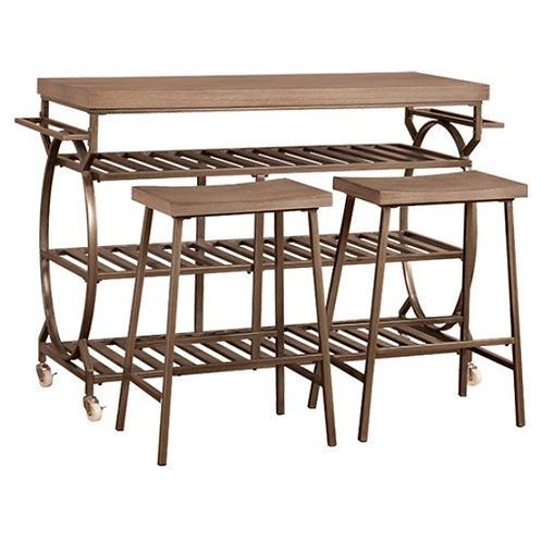 Hillsdale - Paddock Kitchen Cart with Optional Stools