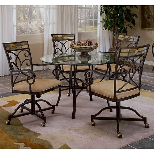 Hillsdale - Pompei Dining Collection Caster Dining Chair (Set of 2)
