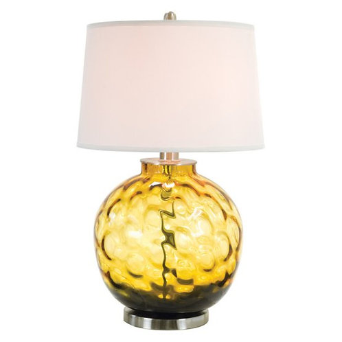 Amber Bubble Glass Table Lamp