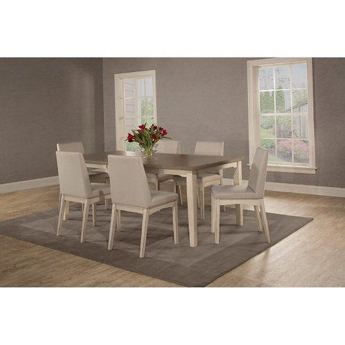 Hillsdale - Clarion 7 Piece Rectangle Dining Set with Upholstered Chairs