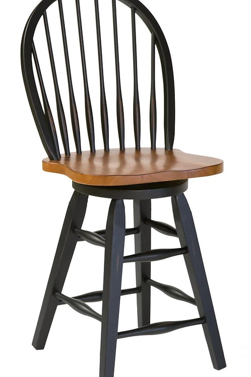 """Tennessee Enterprises- St. Michael Collection 24""""H Barstool - 2-Toned"""