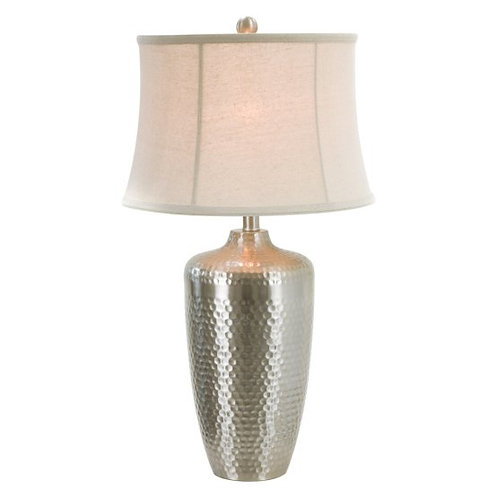 Hammered Silver Table Lamp (Set of 2)