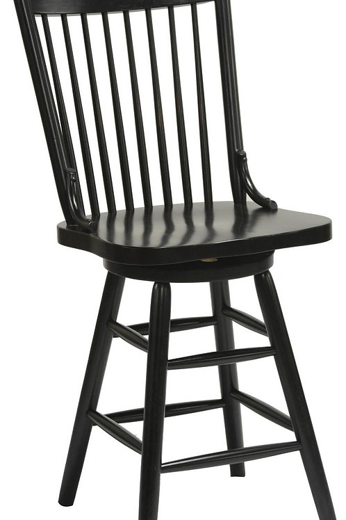 """Tennessee Enterprises - Windswept Shores Collection Farmhouse 24""""H Barstool"""