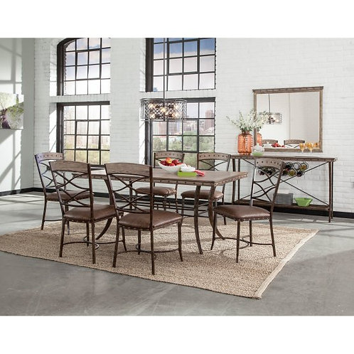 Hillsdale - Emmons 7 Piece Rectangle Dining Set