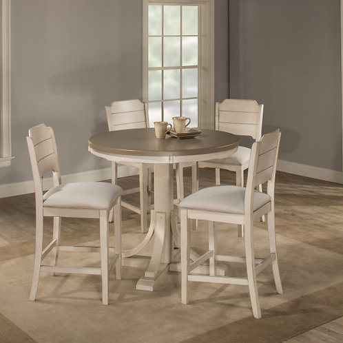 Hillsdale - Clarion 5 Piece Round Counter Dining Set with Open Back Stools