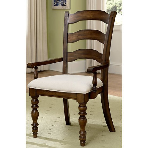Hillsdale - Pine Island Dining Collection Ladder Back Arm Chair (Set of 2)