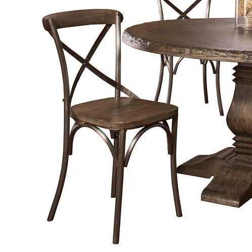 Hillsdale - Lorient Dining Collection X-Back Dining Chair (Set of 2)