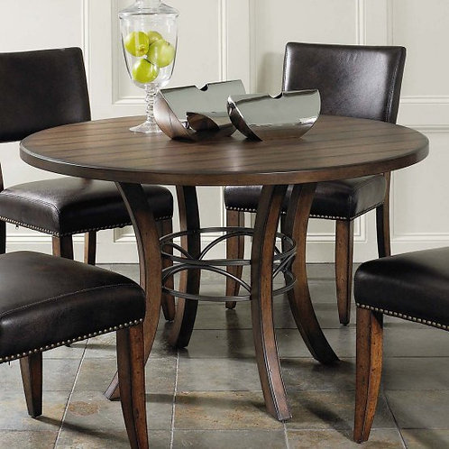Hillsdale - Cameron 5 Piece Round Wood Dining Table Set with Parson Chairs