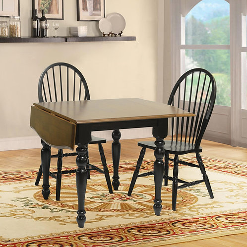 Tennessee Enterprises - Windswept Shores Collection Leg Table with Drop Leaf