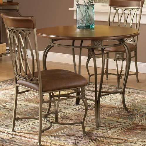 Hillsdale - Montello Dining Chair with Brown Faux Leather & Old Steel (Set of 2)