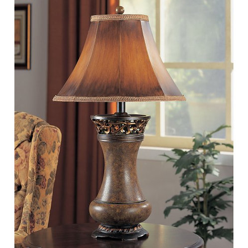 Faux Leather Resin Table Lamp
