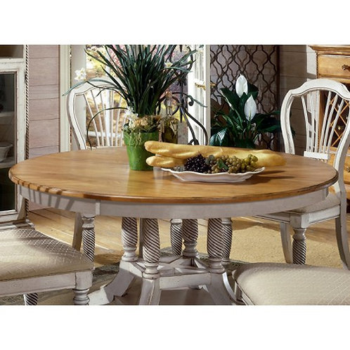 Hillsdale - Wilshire Dining Collection Antique White Round Dining Table