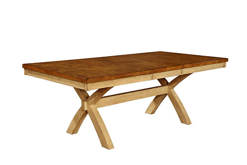Tennessee Enterprises - Quinton Collection Ext. X-Legs Table w/ Butterfly Leaf
