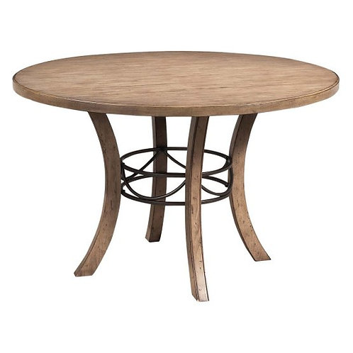 Hillsdale - Charleston Dining Collection Round Desert Tan Wood Dining Table