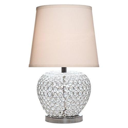 Crystal Rhinestone and Metal Base Table Lamp