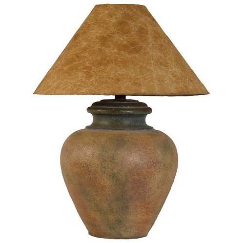 Terracotta Hydrocal Urn Table Lamp