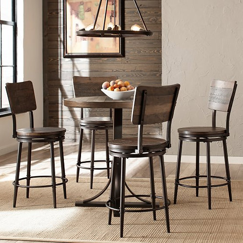 Hillsdale - Jennings 5 Piece Counter Height Dining Set with Swivel Stools