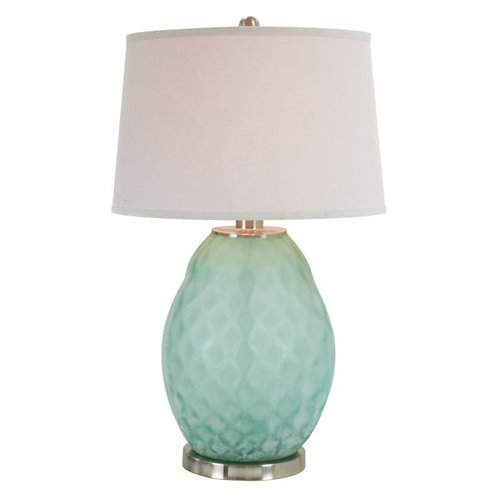 Powder Turquoise Glass Table Lamp