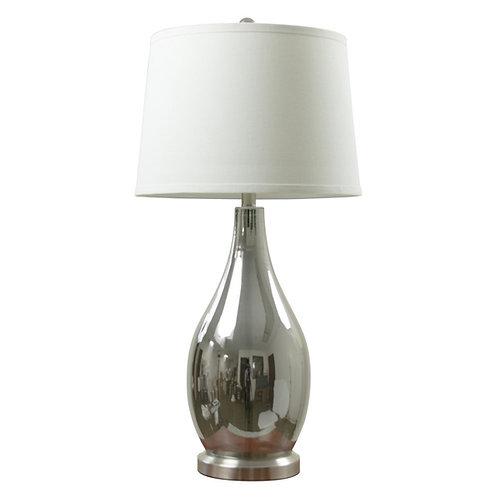 Glass Chrome Table Lamp (Set of 2)