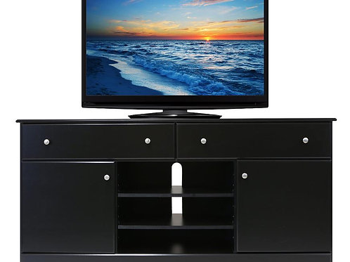 Perdue #49602 Solid Black Entertainment Stand