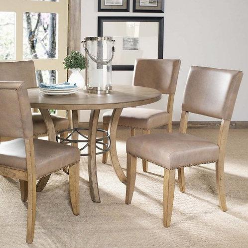 Hillsdale - Charleston 5 Piece Round Wood Dining Set with Parson Chairs