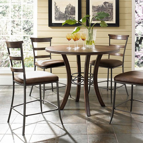 Hillsdale - Cameron 5 Piece Counter Height Round Wood Dining Table Set