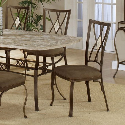 Hillsdale - Brookside Collection Diamond Fossil Back Dining Chair (Set of 2)
