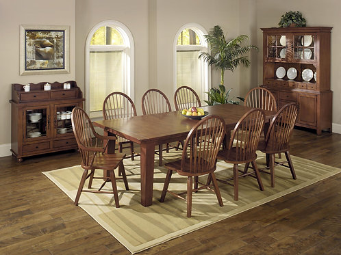 """Tennessee Enterprises- St. Michael Collection Leg Table with 2-16"""" Leaves"""