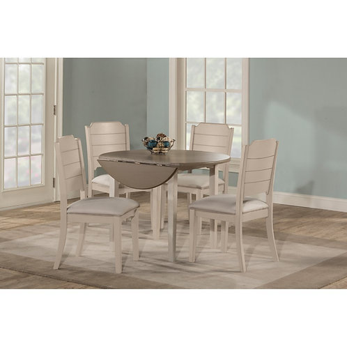 Hillsdale - Clarion 5 Piece Round Drop Leaf Dining Set with Side Chairs