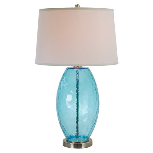Faceted Glass Base Table Lamp