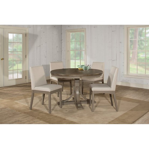 Hillsdale - Clarion 5 Piece Round Dining Set with Upholstered Chairs