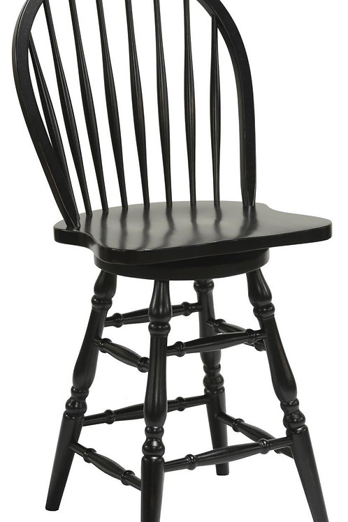 """Tennessee Enterprises - Windswept Shores Collection Bowback 24""""H Barstool"""