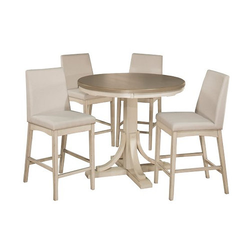 Hillsdale - Clarion 5 Piece Round Counter Dining Set with Parson Stools