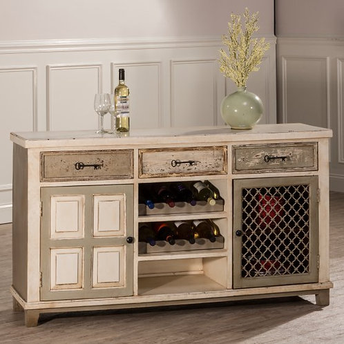 Hillsdale - LaRose Console Table with Two Door Storage and Wine Rack