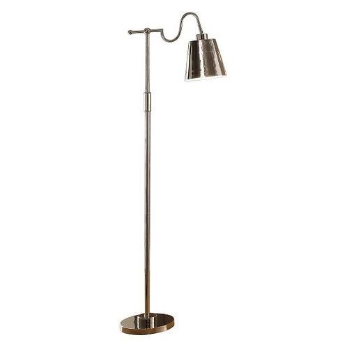 Simple Nickel Empire Shade Floor Lamp