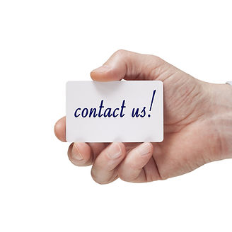 hand holding business card with contact