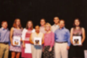 2001 Scholarship Recipients